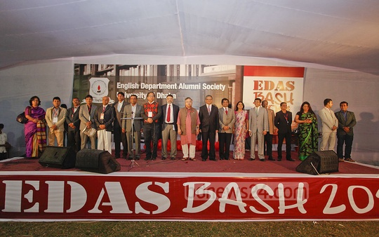 Members of EDAS executive committee 2015. Photo: nayan kumar/ bdnews24.com