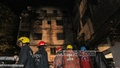 Fire fighters and locals try to douse the fire at a Plastic factory in Mirpur-1 on Saturday. Photo: bdnews24.com