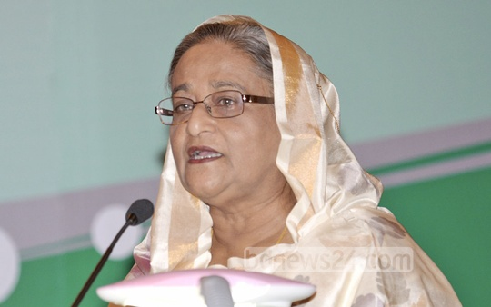 Prime Minister Sheikh Hasina speaks at the inauguration of an international meet on burns and plastic surgery in Dhaka's Sonargaon hotelon Thursday. Photo: PMO