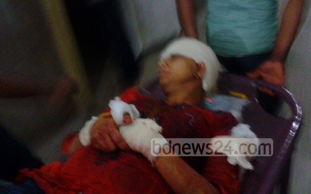 Injured Rafida Ahmed Banna