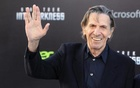 Leonard Nimoy, cast member of the new film 'Star Trek Into Darkness', poses as he arrives at the film's premiere in Hollywood May 14, 2013. Reuters