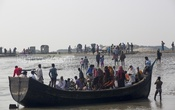 Representational Image: Nijhum Dwip in Hatiya Upazila, home to over 30,000 people, has no jetty at its entry point, Bandartila Ghat. This photo was taken on Feb 28, 2015. Photo: mustafiz mamun/ bdnews24.com