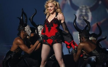 Madonna performs ''Living for Love'' at the 57th annual Grammy Awards in Los Angeles, California February 8, 2015.   REUTERS/Lucy Nicholson