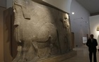 The human-headed winged bull statues from Khorsabad, at the Iraqi National Museum in Baghdad. Photo: Reuters