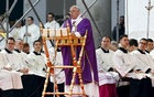 Pope Francis celebrates a mass in Plebiscito square during his pastoral visit in Naples March 21, 2015. Reuters