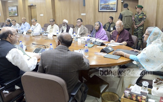 Prime Minister Sheikh Hasina chairs regular Cabinet meeting on Monday. Photo: PMO