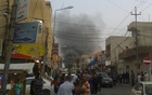 Smoke rises from the site of a bomb attack in Erbil, the capital of Iraq's Kurdistan region,  REUTERS