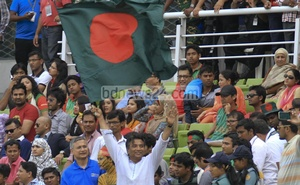In the gallery, watching Bangladesh's match against Pakistan. File Photo