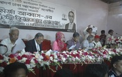 BNP-backed Dhaka South City Corporation mayor candidate Mirza Abbas' wife Afroza Abbas releases manifesto at National Press Club in the capital on Monday. Photo: bdnews24.com