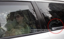 The motorcade of BNP chief Khaleda Zia comes under attack while she was campaigning for her party-endorsed city polls candidates in Dhaka's Bangla Motor on Wednesday. Photo:bdnews24.com
