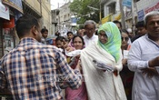 BNP-backed Dhaka South City Corporation mayor candidate Mirza Abbas' wife Afroza Abbas campaigns in Old Dhaka's Sutrapur on Wednesday. Photo: bdnews24.com