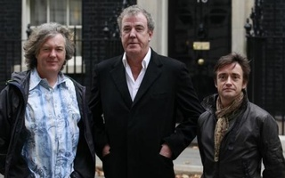 BBC automobile program Top Gear presenters James May (L), Jeremy Clarkson (C) and Richard Hammond pose outside 10 Downing Street in London November 29, 2011. Reuters