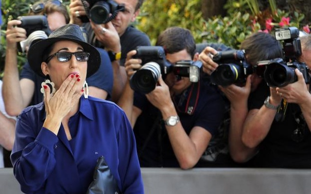 Jury member actress Rossy de Palma arrives at the Grand Hyatt Cannes Hotel Martinez on the eve of the opening of the 68th Cannes Film Festival in Cannes, southern France, May 12, 2015. Reuters