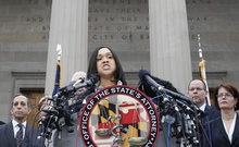 Baltimore state attorney Marilyn Mosby speaks on recent violence in Baltimore, Maryland in this May 1, 2015 file photo. Reuters
