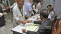 Voting at FBCCI polls at Motijheel's Federation Bhaban on Saturday. Photo: nayan kumar