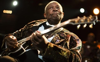 Blues legend BB King performs onstage during the 45th Montreux Jazz Festival. Photo: Reuters