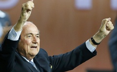 Fifa President Sepp Blatter reacts after he was re-elected at the 65th Fifa Congress in Zurich, Switzerland, May 29, 2015. Reuters​