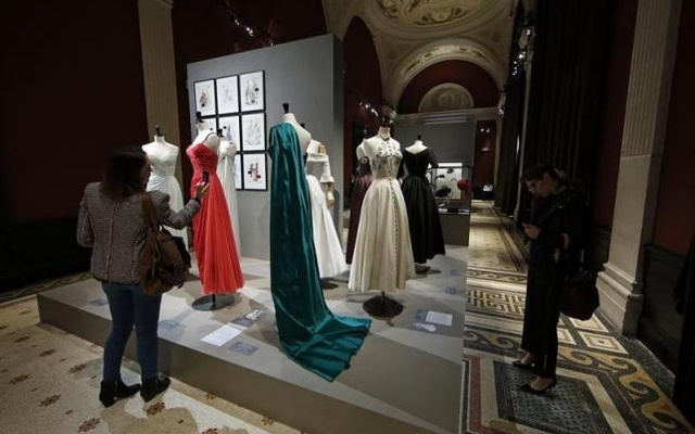 Vintage dresses by designers Jean Desses, Jacques Fath and Carven are presented in the exhibition 'Les Annees 50, La mode en France' (The 50s. Fashion in France, 1947-1957) at the Palais Galliera fashion museum in Paris, July 10, 2014. Reuters