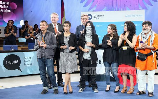 Winners at the Bobs Award ceremony. Photo: Deutsche Welle