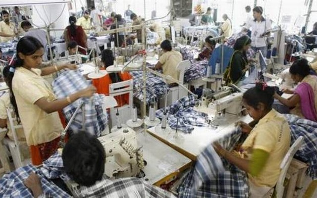 Workers at an export-oriented garment factory in Bangladesh. (File Photo)