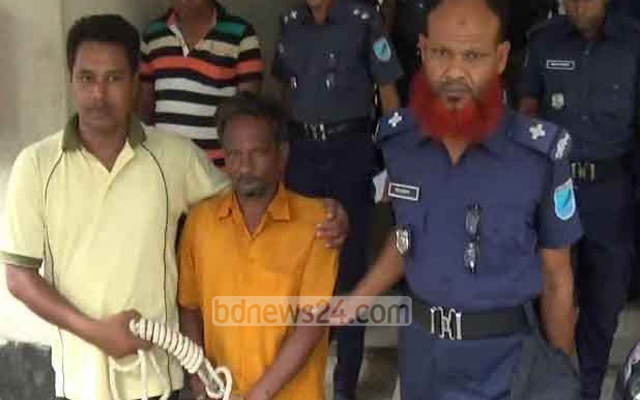 Police arrested Md Moslem Pradhan in July  2015 from a village in Kishoreganj while Syed Md Hossain was tried as a fugitive. File photo