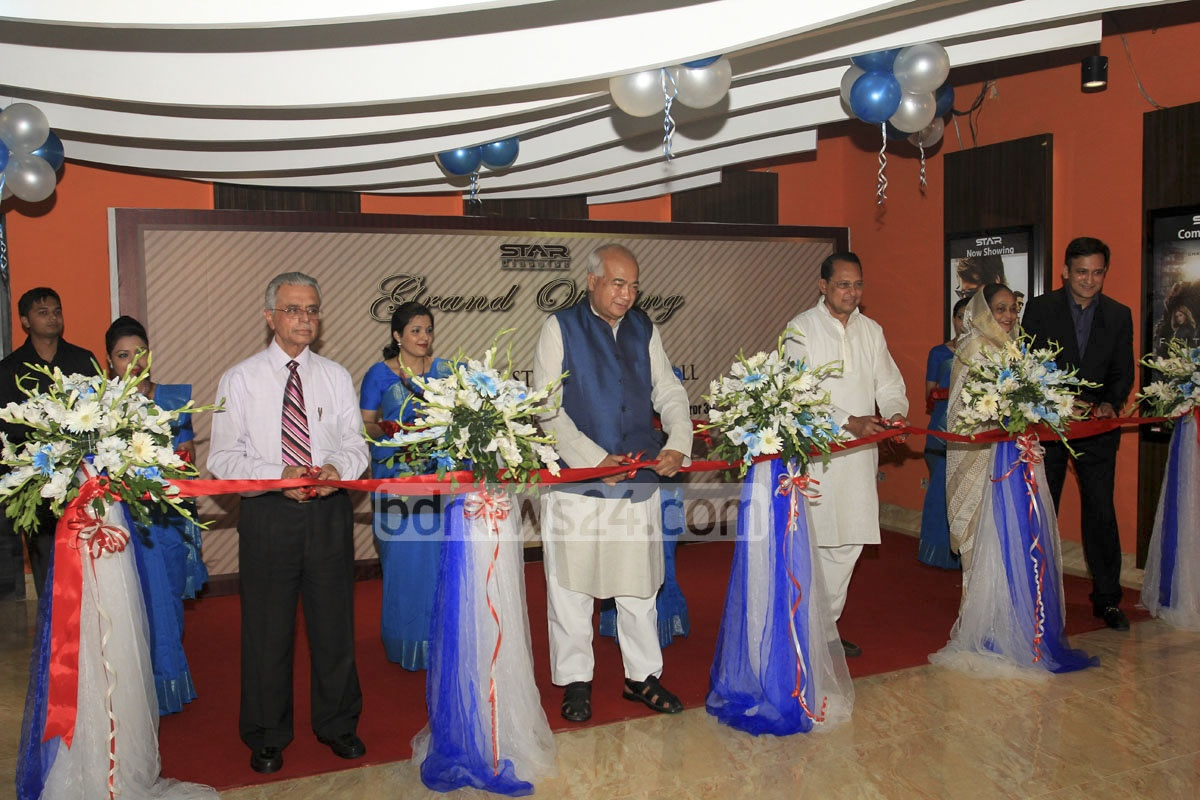 Information Minister Hasanul Haq Inu was joined by Housing and Public Works Minister Eng Mosharraf Hossain, among others, as he officiated at the formal launch on Tuesday of two