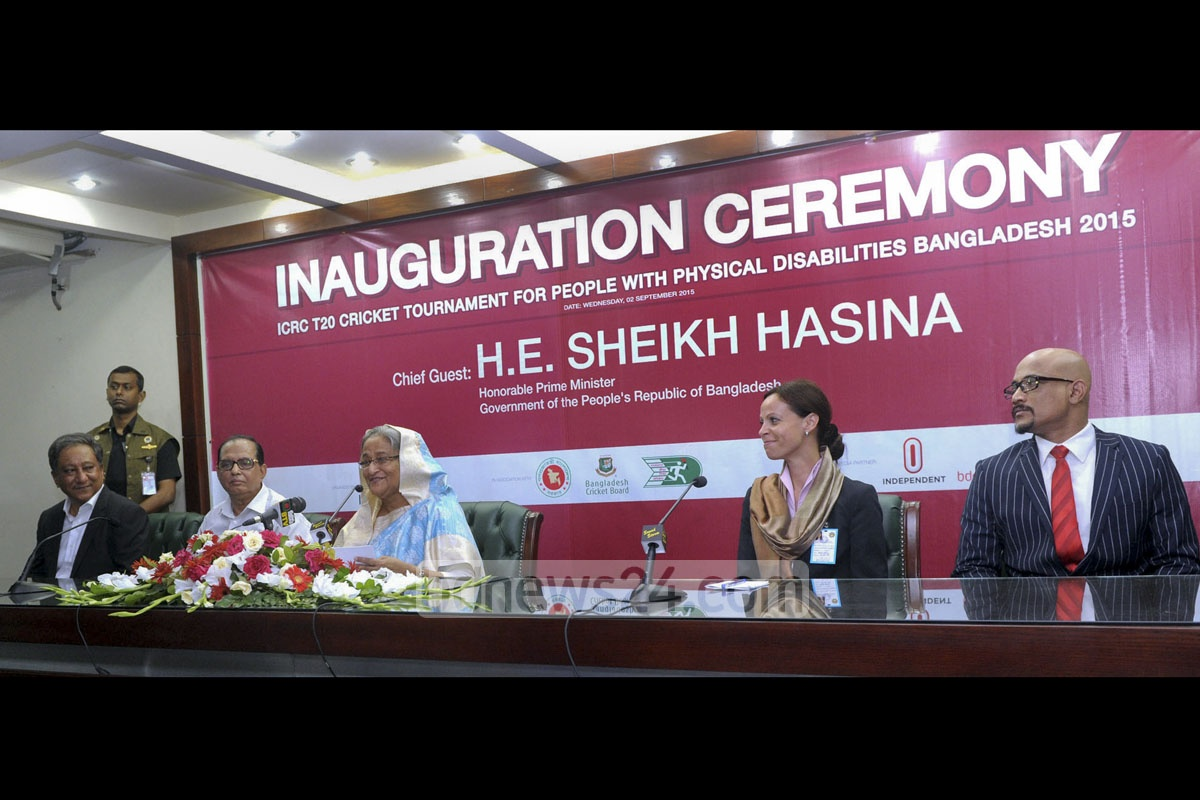 Disability cannot keep down talent, Prime Minister Sheikh Hasina said on Wednesday while inaugurating the first-ever international disability cricket tournament at the Sher-e-Bangla Stadium. The ICRC is hosting the five-team T20 meet in association with the youth and sports ministry and Bangladesh Cricket Board. Photo: PMO