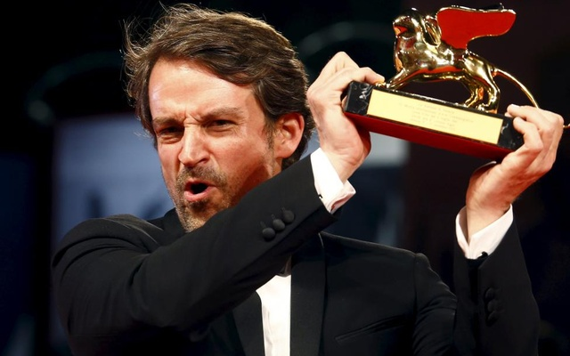 Director Lorenzo Vigas holds the Golden Lion prize for his movie