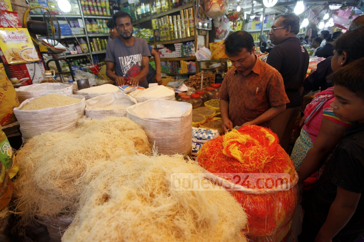 People buy semai on Thursday at a shop at Dhaka's Karwan Bazar for the quintessential Eid-ul-Azha delicacy. Photo: nayan kumar
