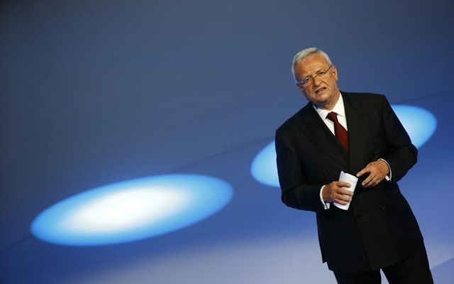 Volkswagen CEO Martin Winterkorn gives his closing speech during the Volkswagen group night ahead of the Frankfurt Motor Show (IAA) in Frankfurt, Germany, September 14, 2015. Reuters