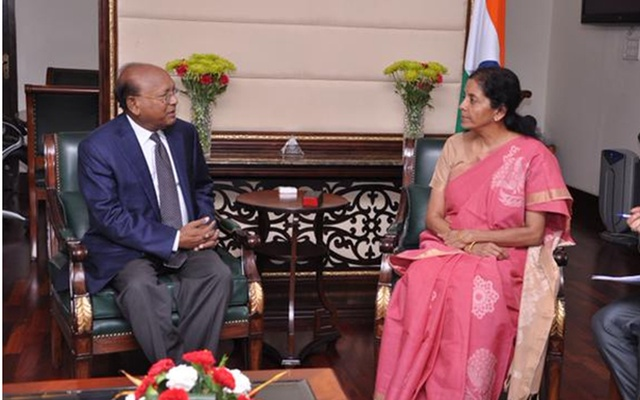 Bangladesh's Commerce Minister Tofail Ahamed meets his Indian counterpart Nirmala Sitaraman in New Delhi on Wednesday.