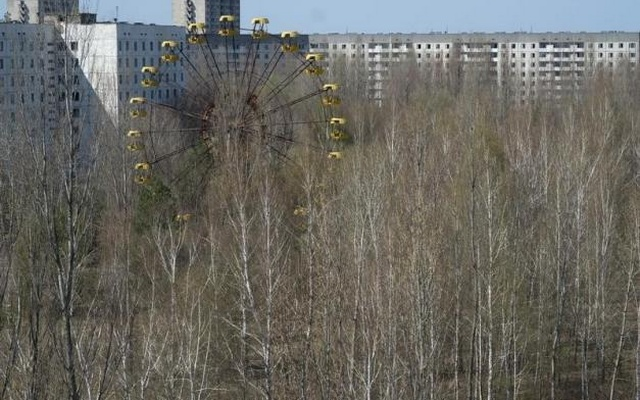 A view of the abandoned city of Pripyat is seen near the Chernobyl nuclear power plant April 23, 2013. Reuters