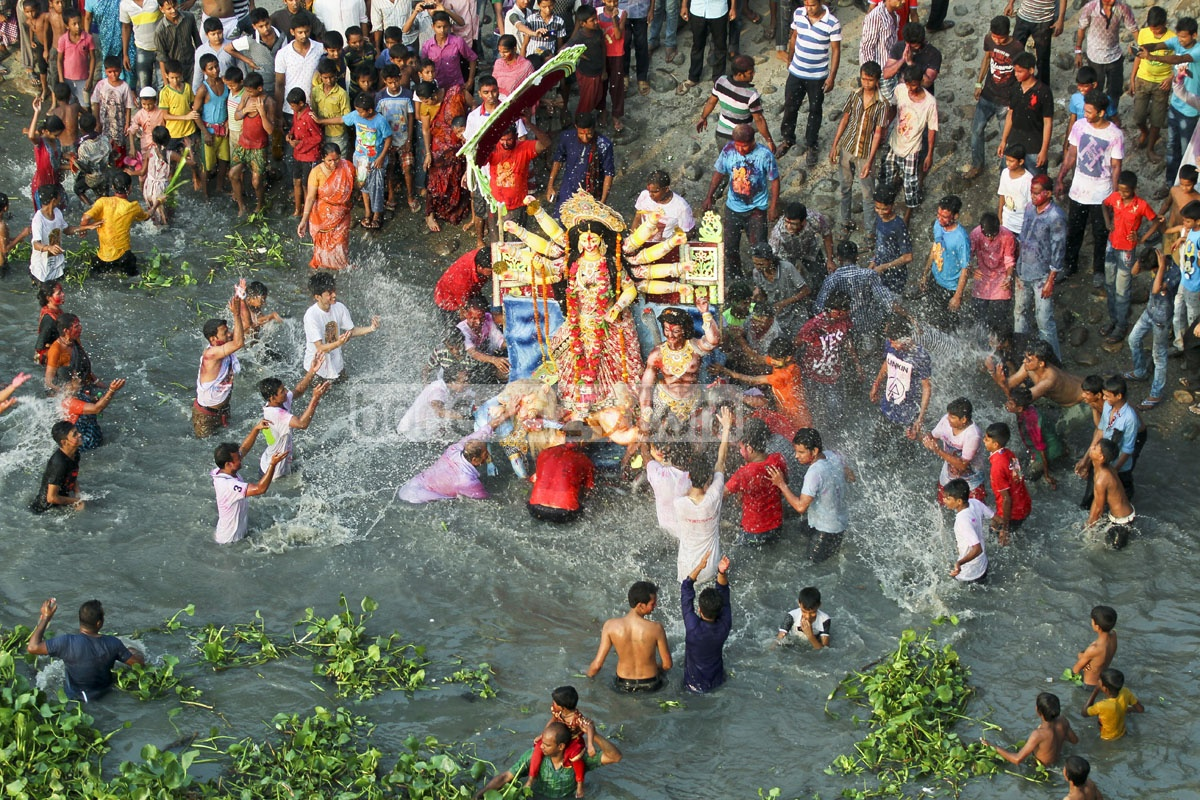 Durga Puja festivity ends in Bangladesh with immersion of