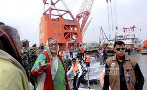 Prime Minister Sheikh Hasina flagged off the main structure work of Padma Bridge on Dec 12, 2015, the largest ever self-financed project by Bangladesh.