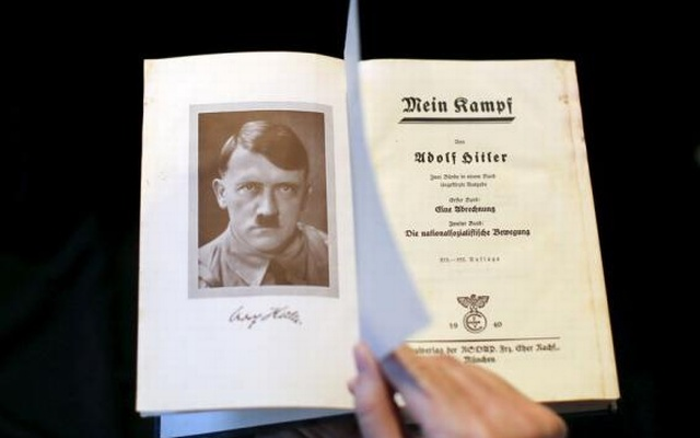 A copy of Adolf Hitler's book 'Mein Kampf' (My Struggle) from 1940 is pictured in Berlin, Germany, in this picture taken on Dec 16, 2015. Reuters