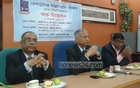 Rafiqul Islam (left) and AAMS Arefin Siddique (centre) at a programme. File Photo.