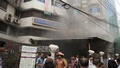 Central Hospital on Dhaka's Green Road caught fire around noon on Thursday.