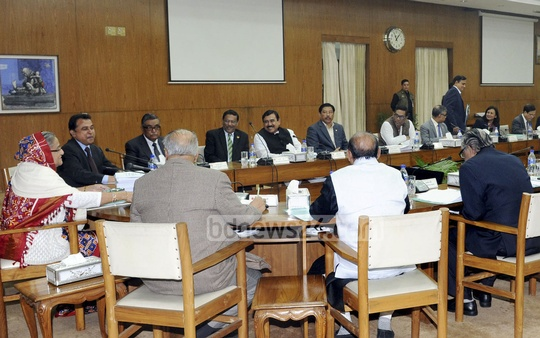 The Executive Committee of the National Economic Council (ECNEC) meets with Prime Minister Sheikh Hasina in chair on Tuesday. Photo: PID