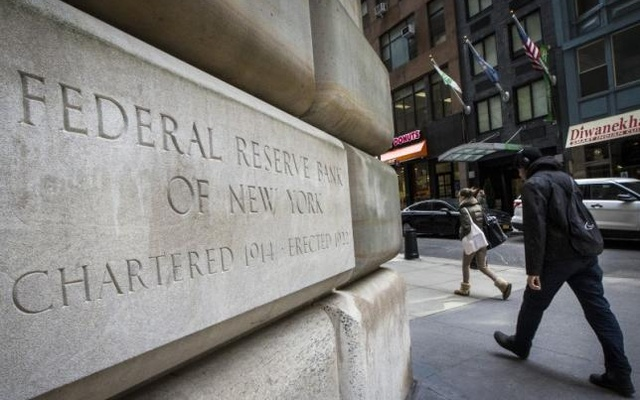 The corner stone of The New York Federal Reserve Bank is seen in New York's financial district March 25, 2015. Reuters