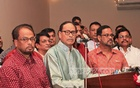 GM Quader (Left) with his brother HM Ershad at a party event. File photo.