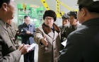 North Korean leader Kim Jong Un (C) speaks during a visit to the Sinhung Machine Plant in this undated photo released by North Korea's Korean Central News Agency (KCNA) in Pyongyang April 1, 2016. Reuters