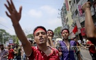 Workers join a procession in Dhaka on May Day, demanding a minimum wage of Tk 10,000 and safety at work places. Photo: asaduzzaman pramanik