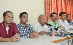 Senior BNP leader Ruhul Kabir Rizvi, however, was all praise about Joy's late father Wazed Mia during Wednesday's media briefing.