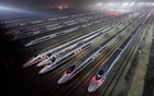 China Railway High-speed Harmony bullet trains are seen at a high-speed train maintenance base in Wuhan, Hubei province, early Dec 25, 2012. Reuters