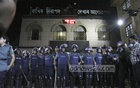 This bdnews24.com File Photo of May 11, 2016 shows police guarding the central jail in Old Dhaka during the execution of Jamaat chief Motiur Rahmnan Nizami.