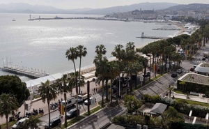 A general view shows the Croisette and the bay of Cannes on the eve of the opening ceremony of the 69th Cannes Film Festival in Cannes, France, May 10, 2016. Reuters