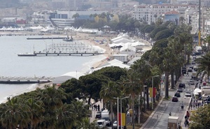 A general view shows the Croisette and the Festival Palace on the eve of the opening ceremony of the 69th Cannes Film Festival in Cannes, France, May 10, 2016. Reuters