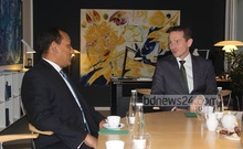 Ambassador Muhammad A Muhith in a meeting with Danish Foreign Minister Kristian Jensen (File Photo)