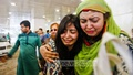 Nurjahan Begum's granddaughters break into tears after doctors pronounced her dead. The editor of 'Begum' magazine died at Dhaka's Square Hospital on Monday morning. Photo: tanvir ahammed