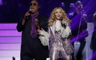 Stevie Wonder and Madonna perform